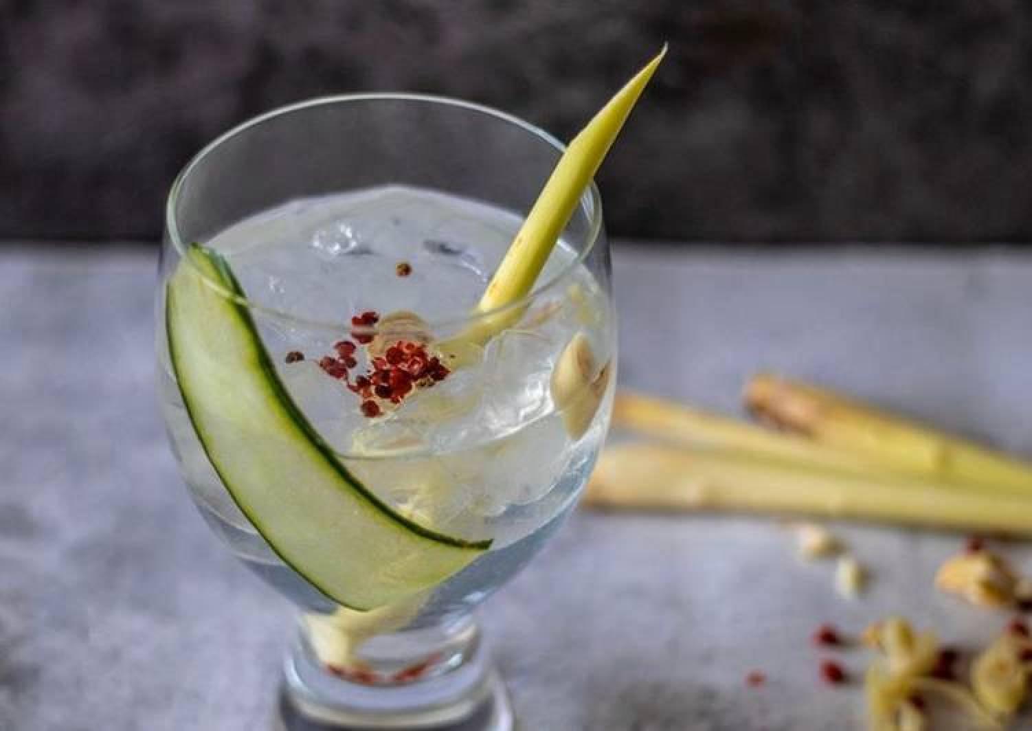 'Mocktail Lemongrass Gin and Tonic'