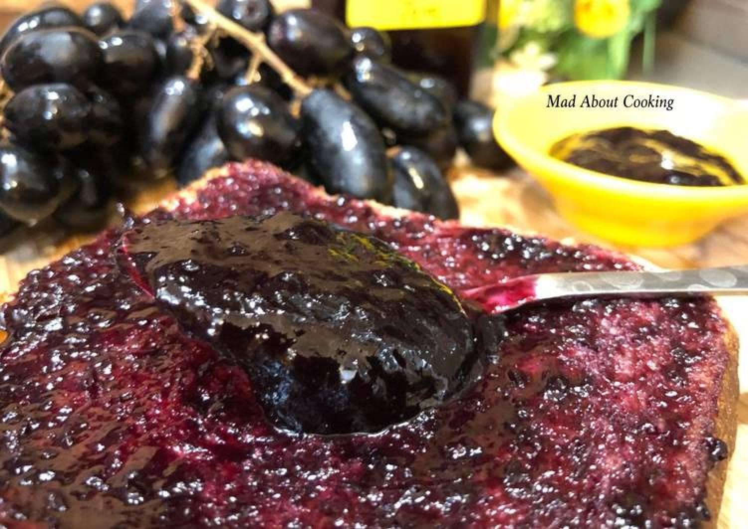 Black Grapes Jam – No Pectin Jam Recipe