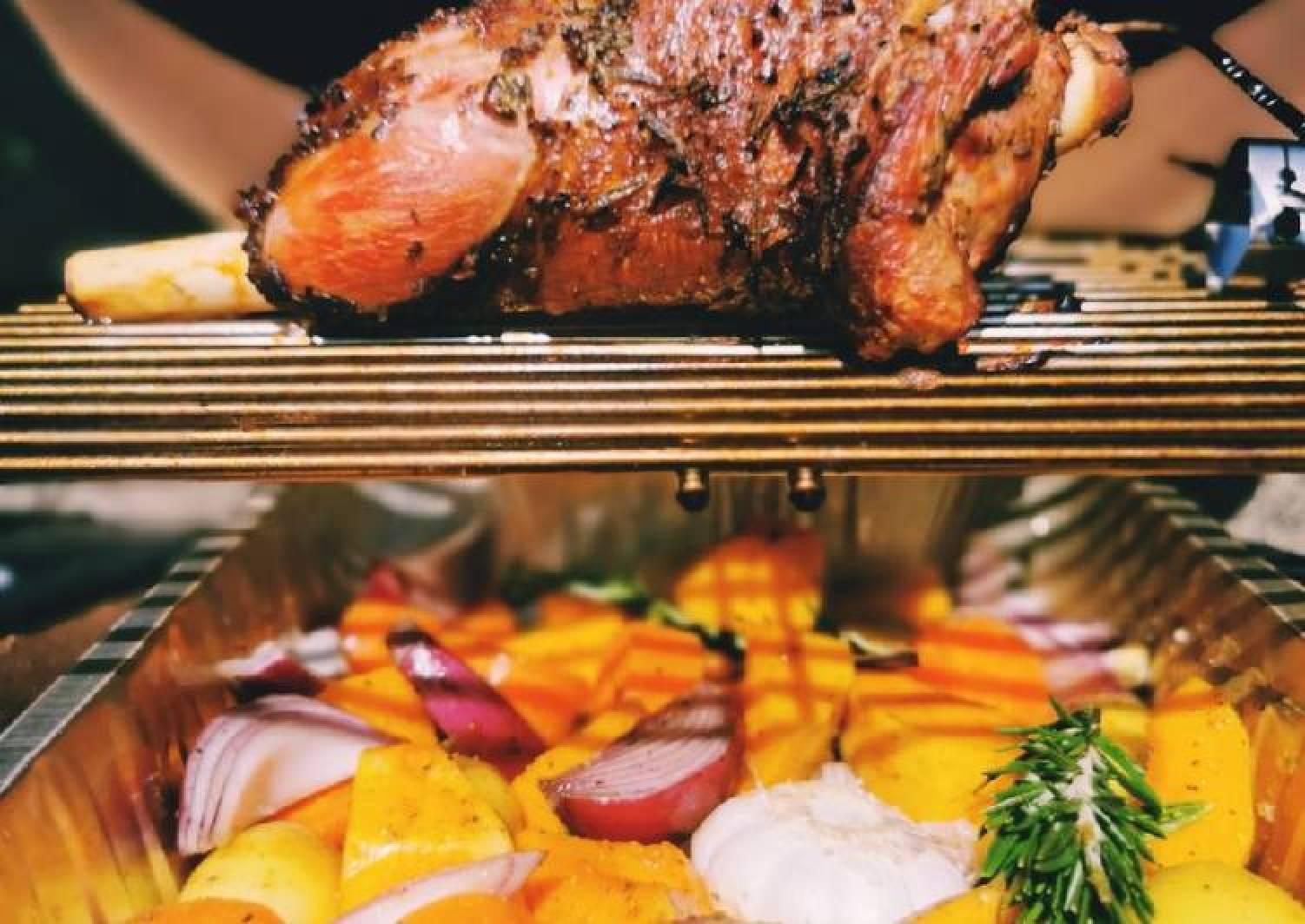 BBQ Drip pan roasted veg