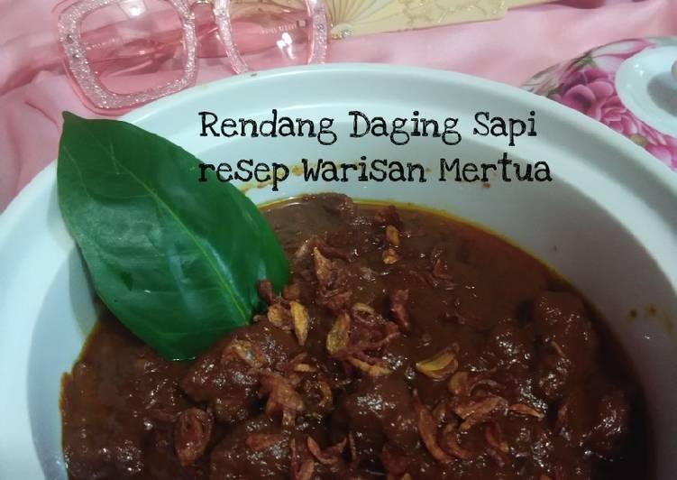 Rendang Daging Sapi resep warisan mama mertua