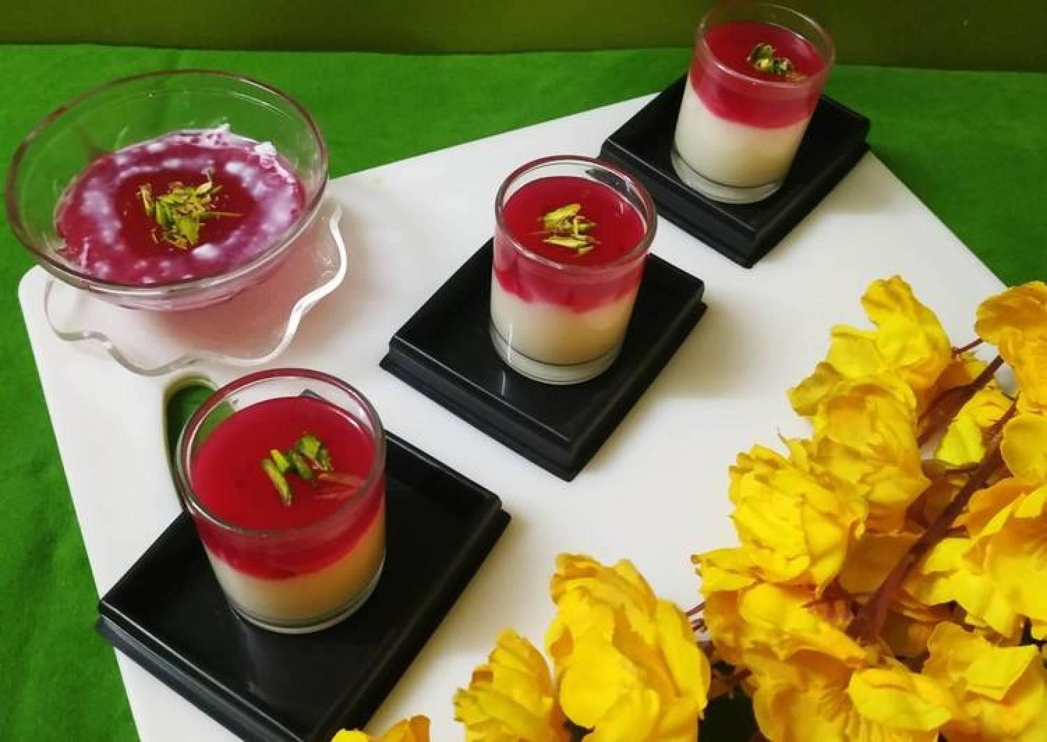 Rose Pudding Without Gelatin / Agar Agar