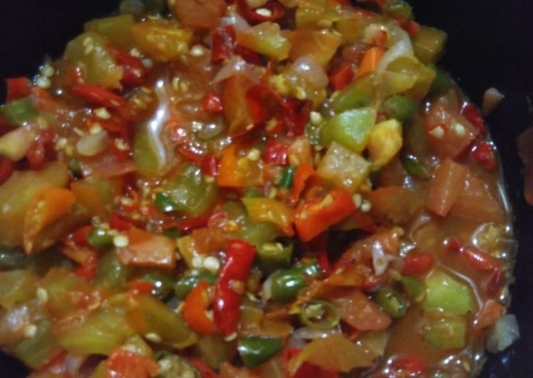 Sambal dabu2_teman makan nasi kuning manado(resep d sblh)
