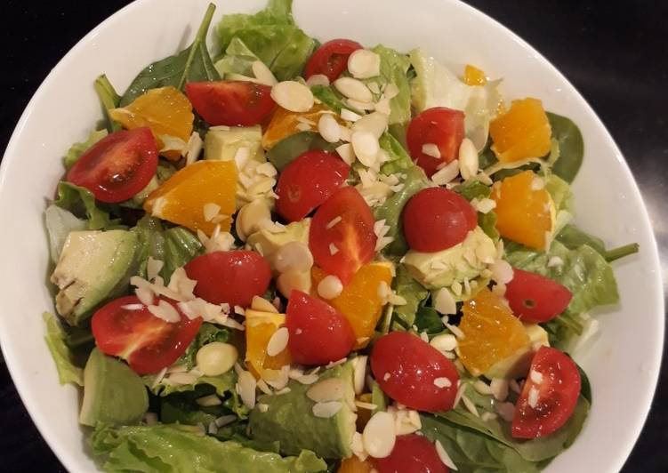 My kind of fresh nutty and fruity garden salad