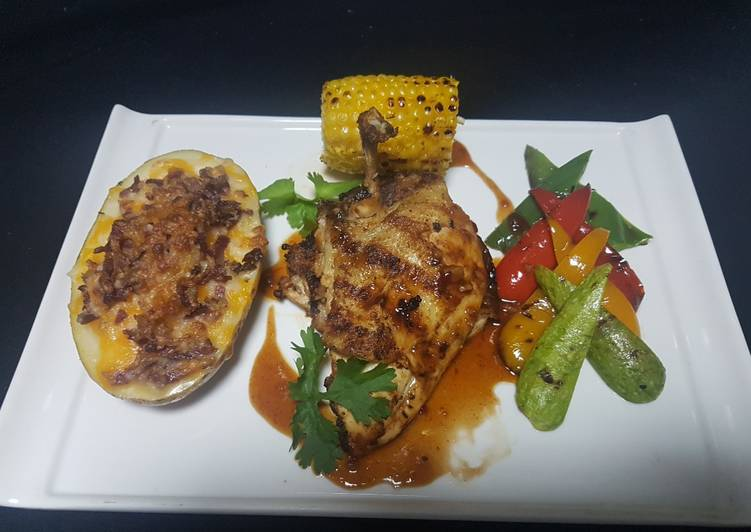 Grilled chicken churasco