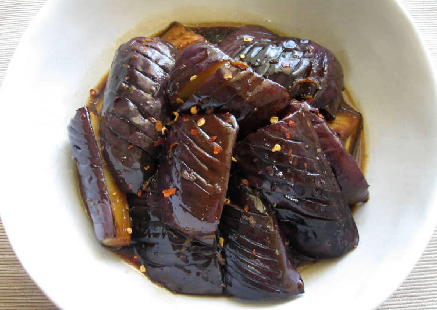 Ponzu Marinated Eggplants