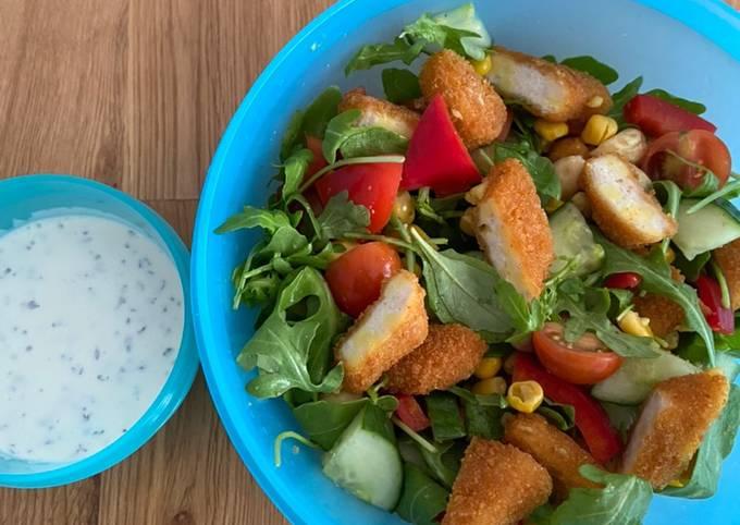 Der einfachste Weg Um Ultimative Salat mit Hähnchenbrust-Streifen zuzubereiten
