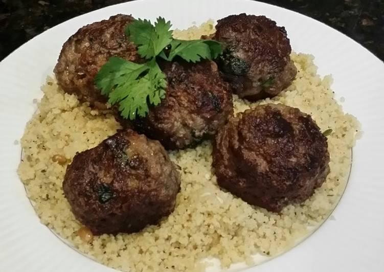Brad's feta stuffed Greek meatballs