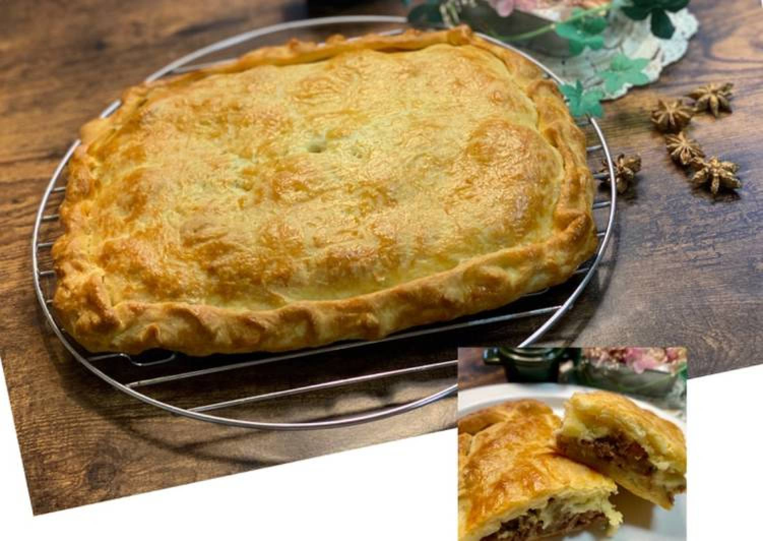 Cheese Teriyaki Beef Pie