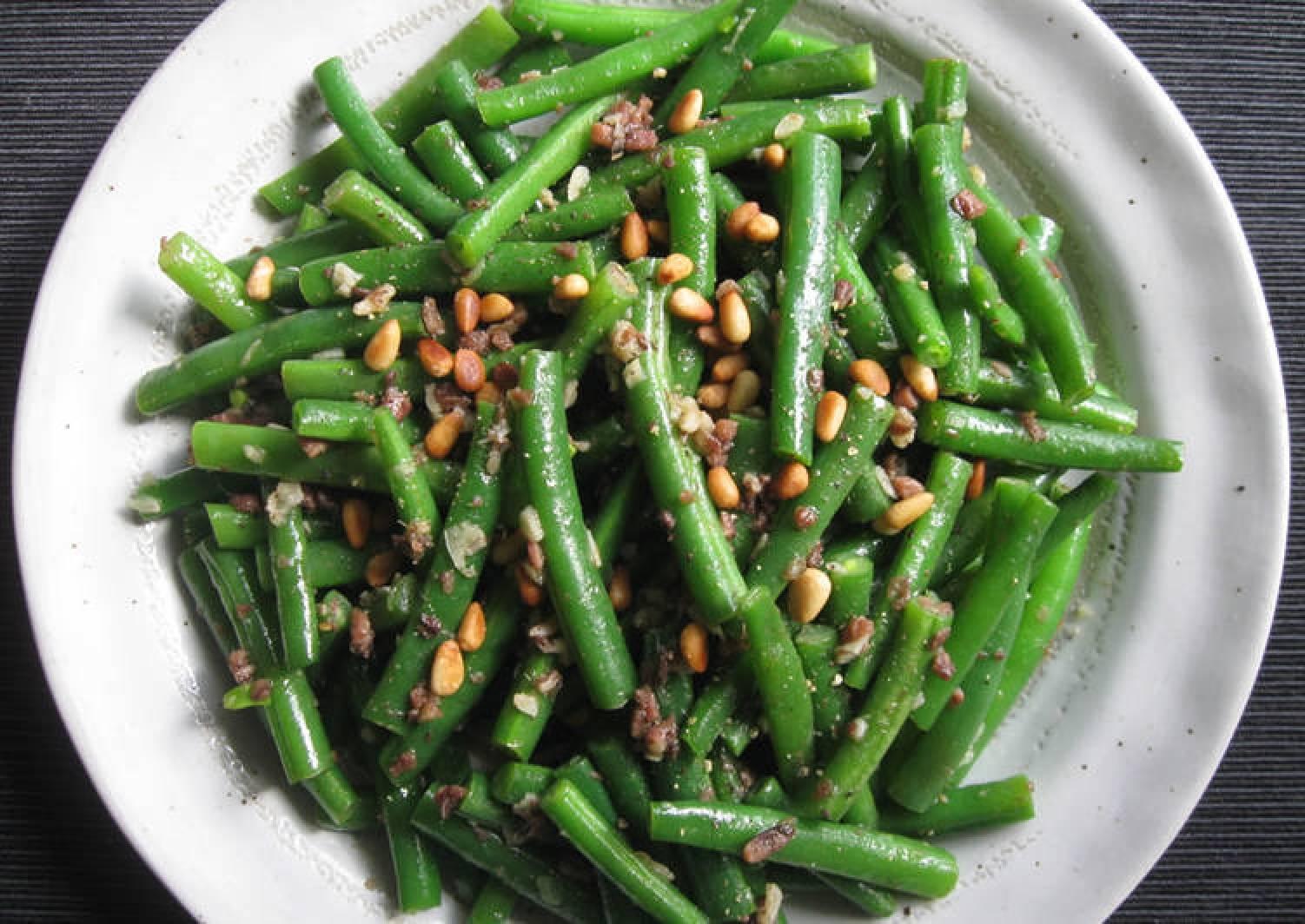 Anchovy Garlic Sautéed Green Beans
