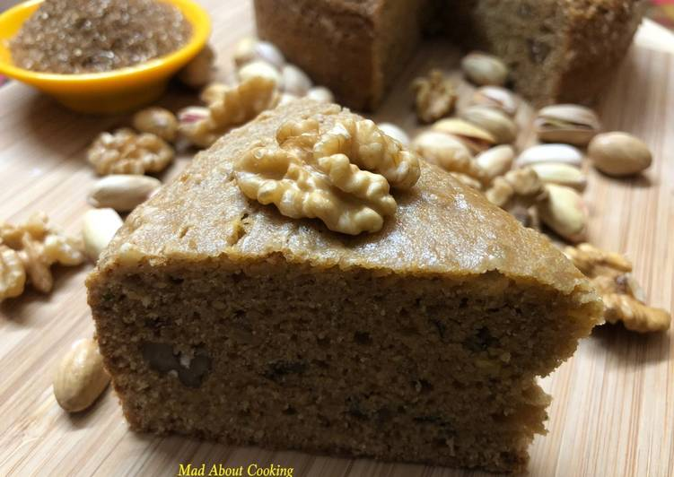 Whole Wheat Flour Cake With Brown Sugar – Tea Time Cooker Cake