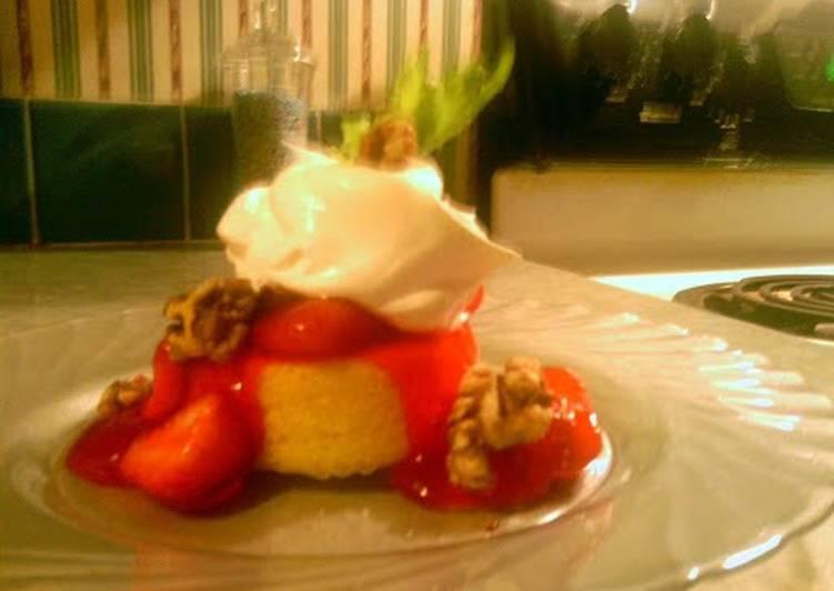 strawberry shot cake