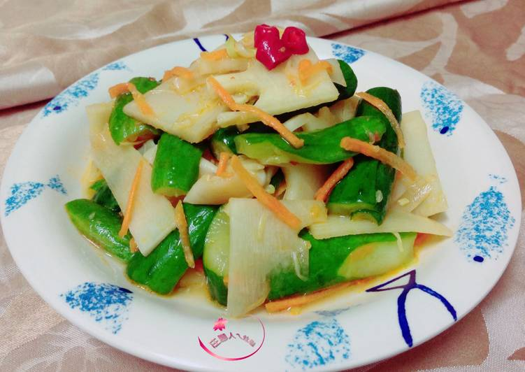 涼拌脆筍食譜 by 莊腳人乀灶咖 - Cookpad
