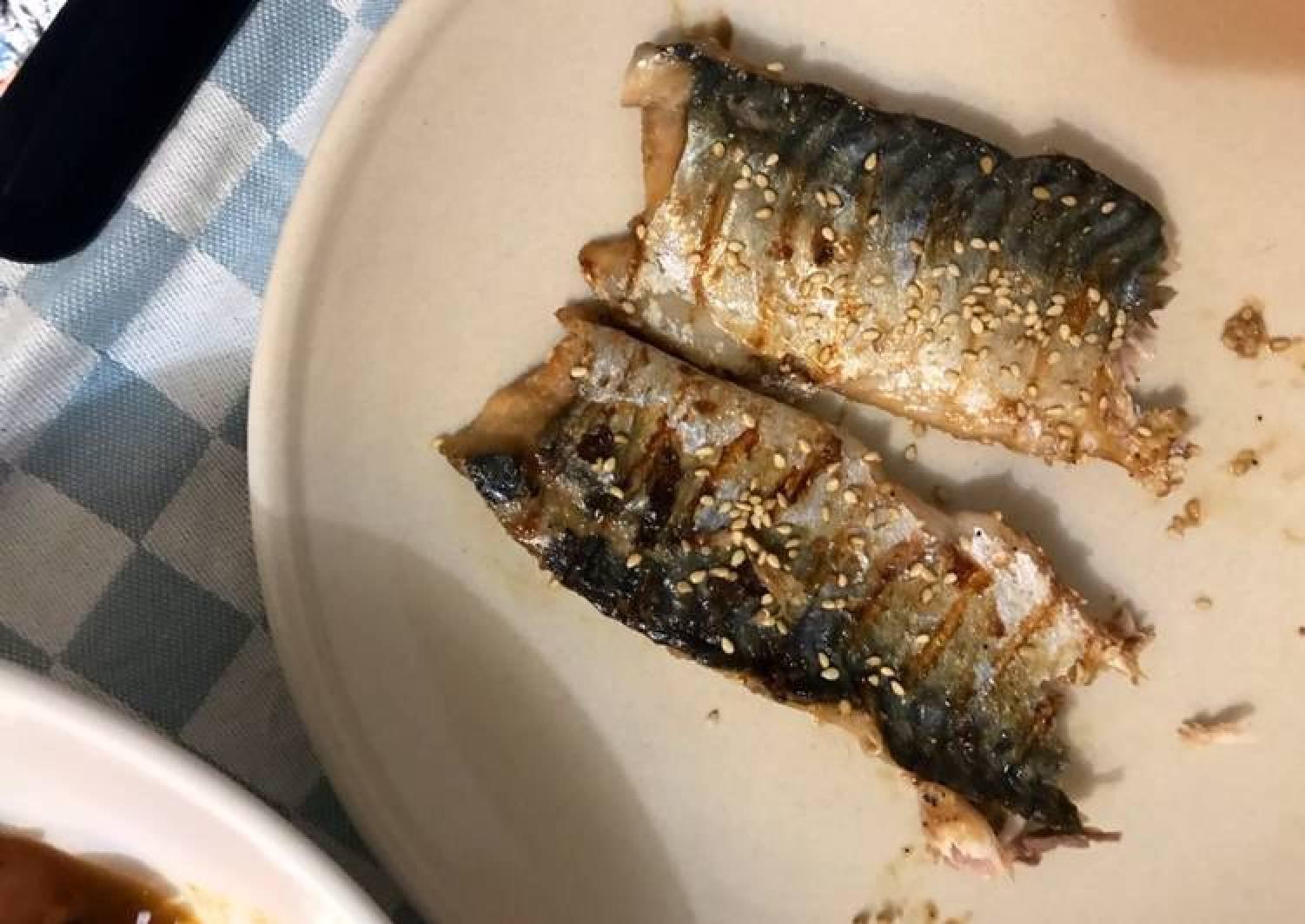 Teriyaki sauce grilled mackerel 🐟