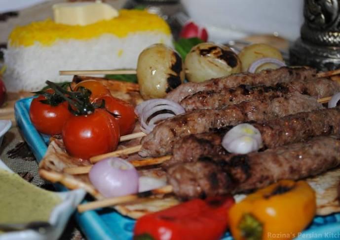 Persian Chelow-kebab