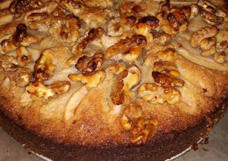 Honey Pear Walnut Cake