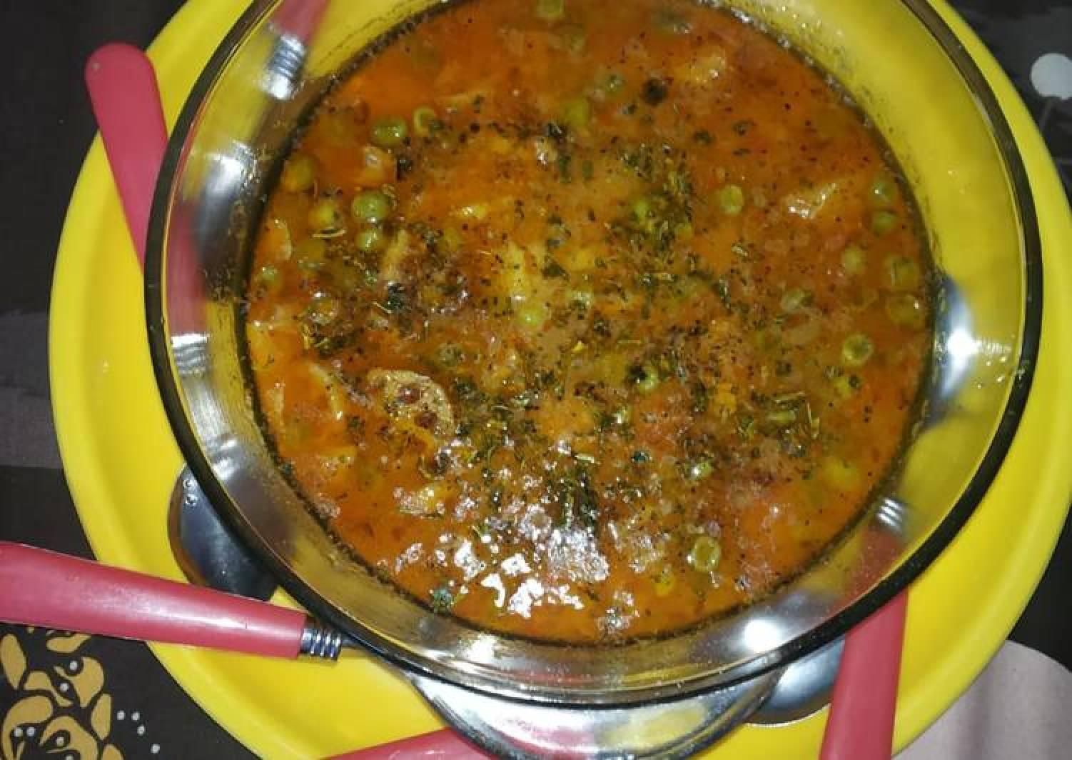 Green peas with kamal kakri