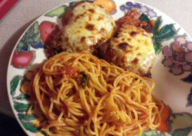 Chicken Parmesan with Homemade Red Sauce