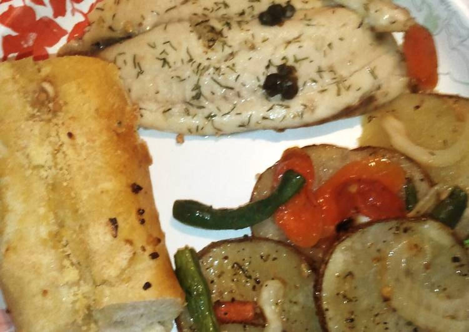 Lemon Dill Tilapia with Capers