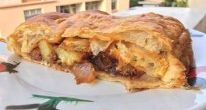 Savoury Potato And Onion Strudel With Leftover BBQ Sauce