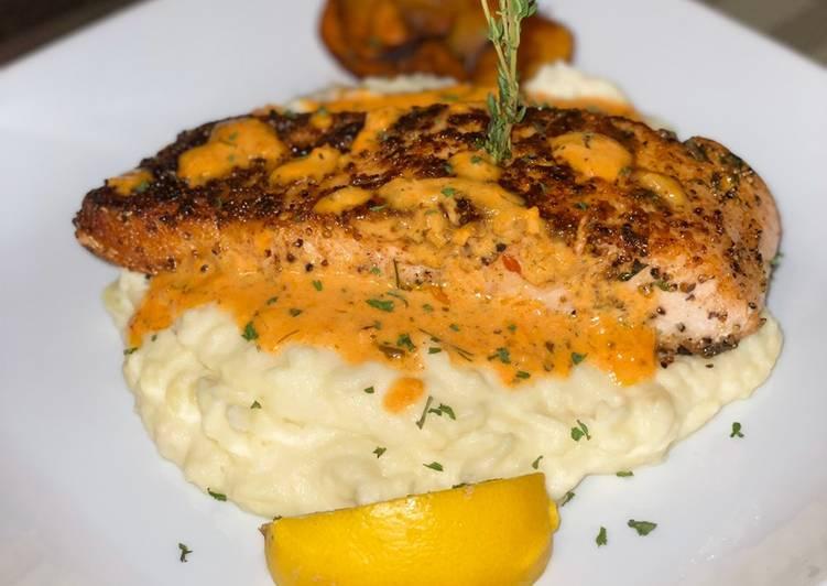 Seared Scampi Salmon