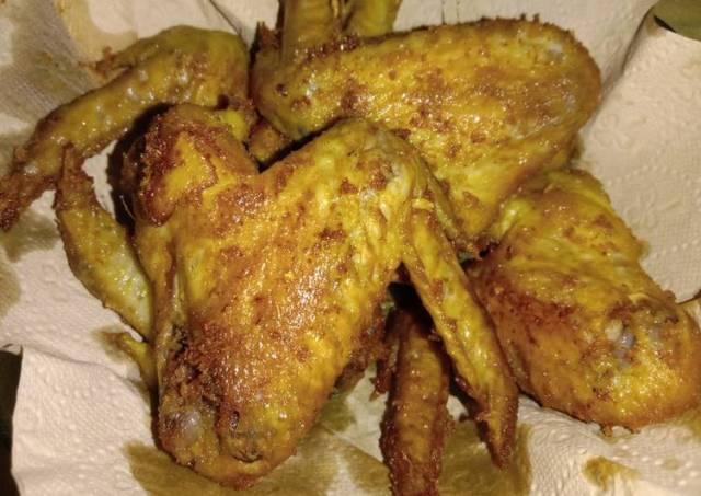 Ayam goreng kuning versi sayap