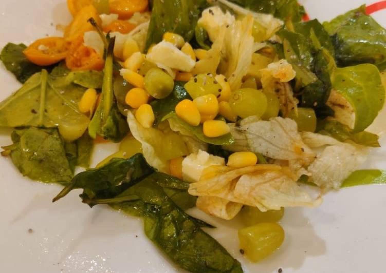 Corn Lettuce Salad