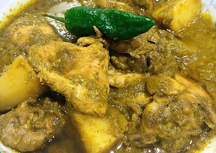 Hara masala chicken