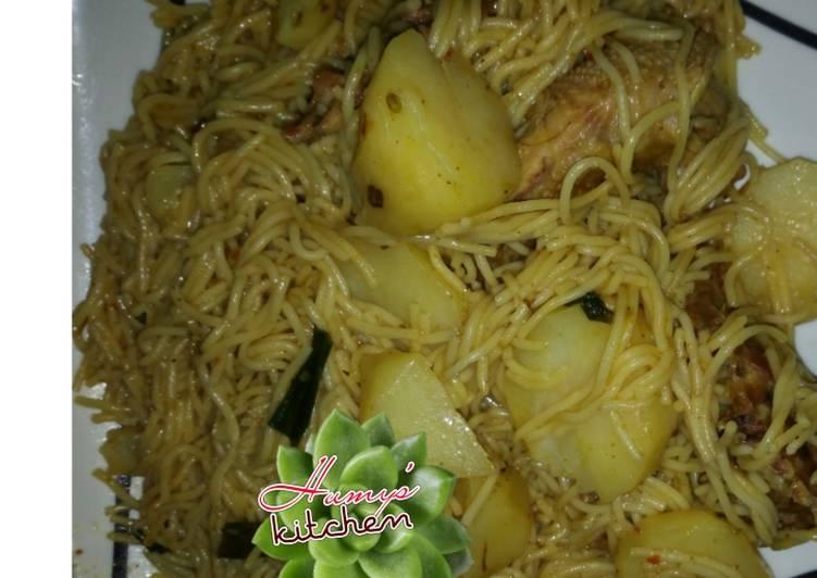 How to Prepare Perfect Jallof spageti wt patato