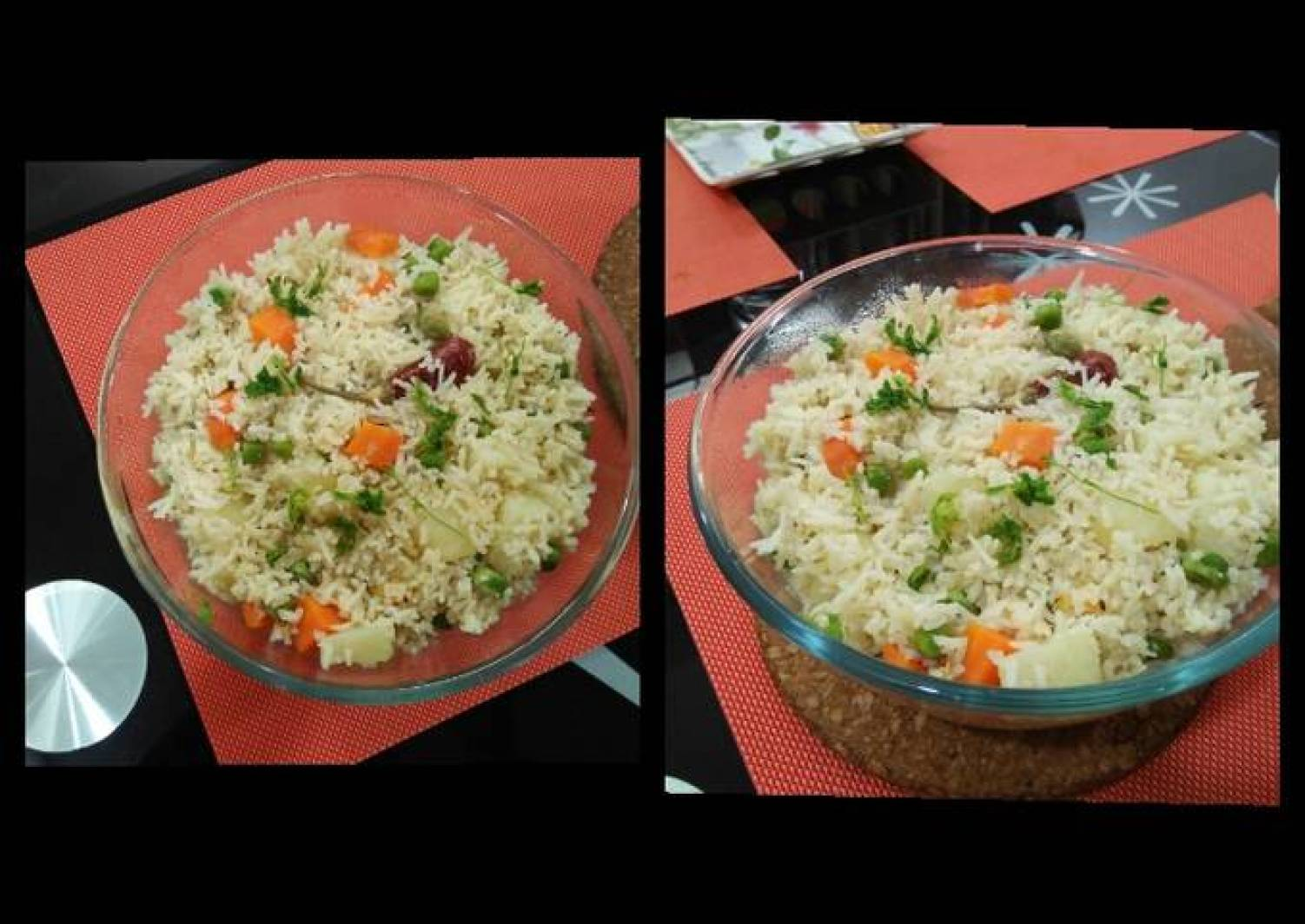 Veg pulao in rice cooker