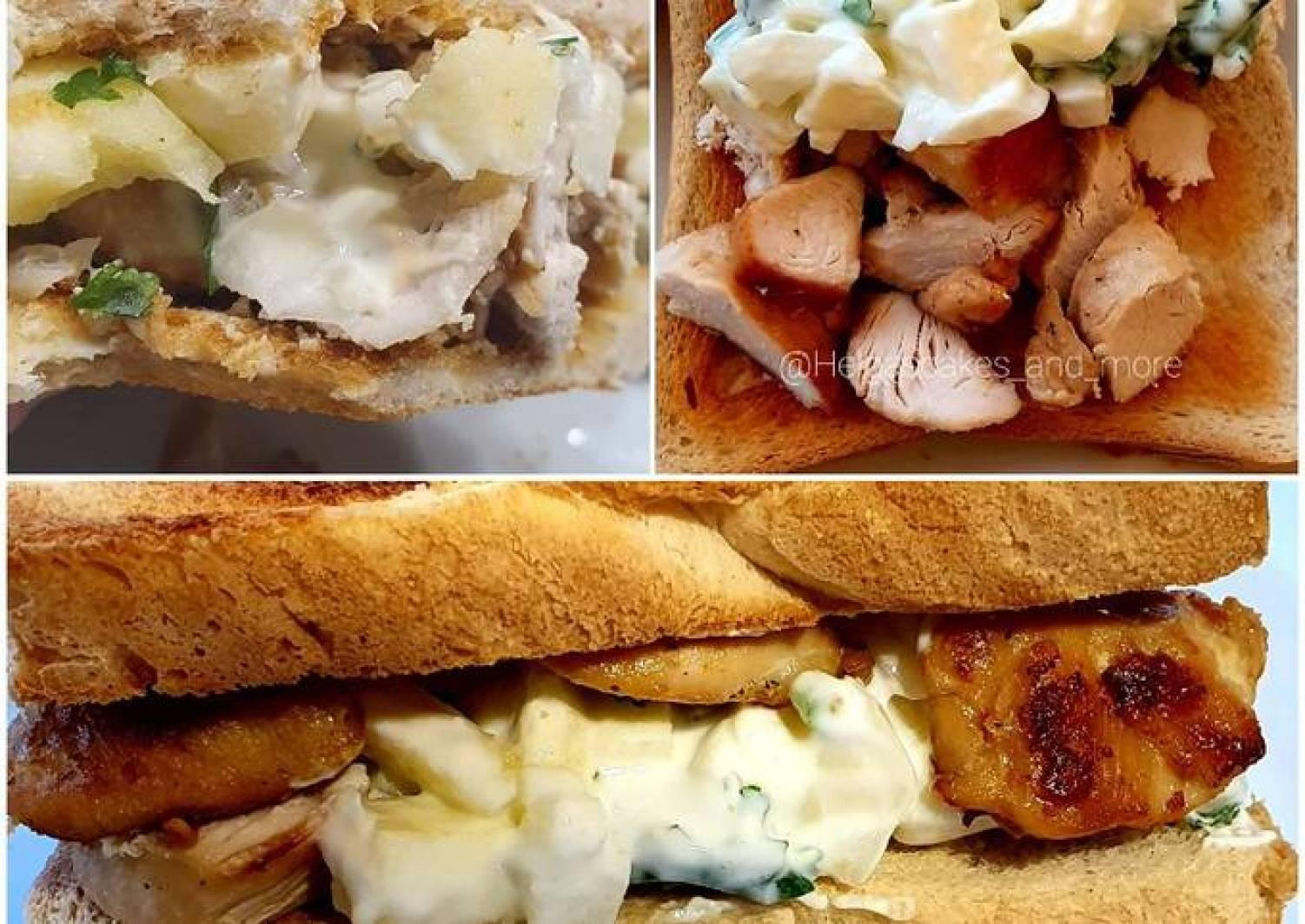 Hähnchen-Joghurt Sandwich