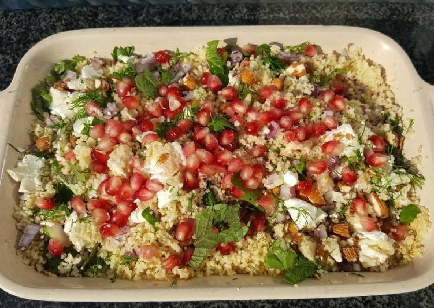 Herby feta couscous salad