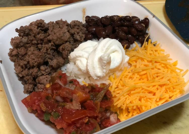 Recipe of Quick Poorman's Beef Burrito Bowl