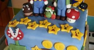 Vickys Super Mario Cake Decoration Idea