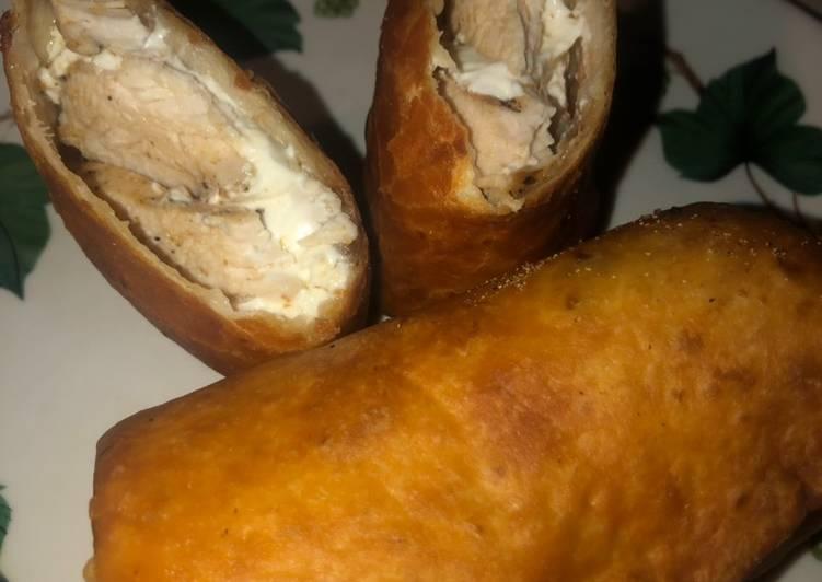 Chicken & cream cheese taquito