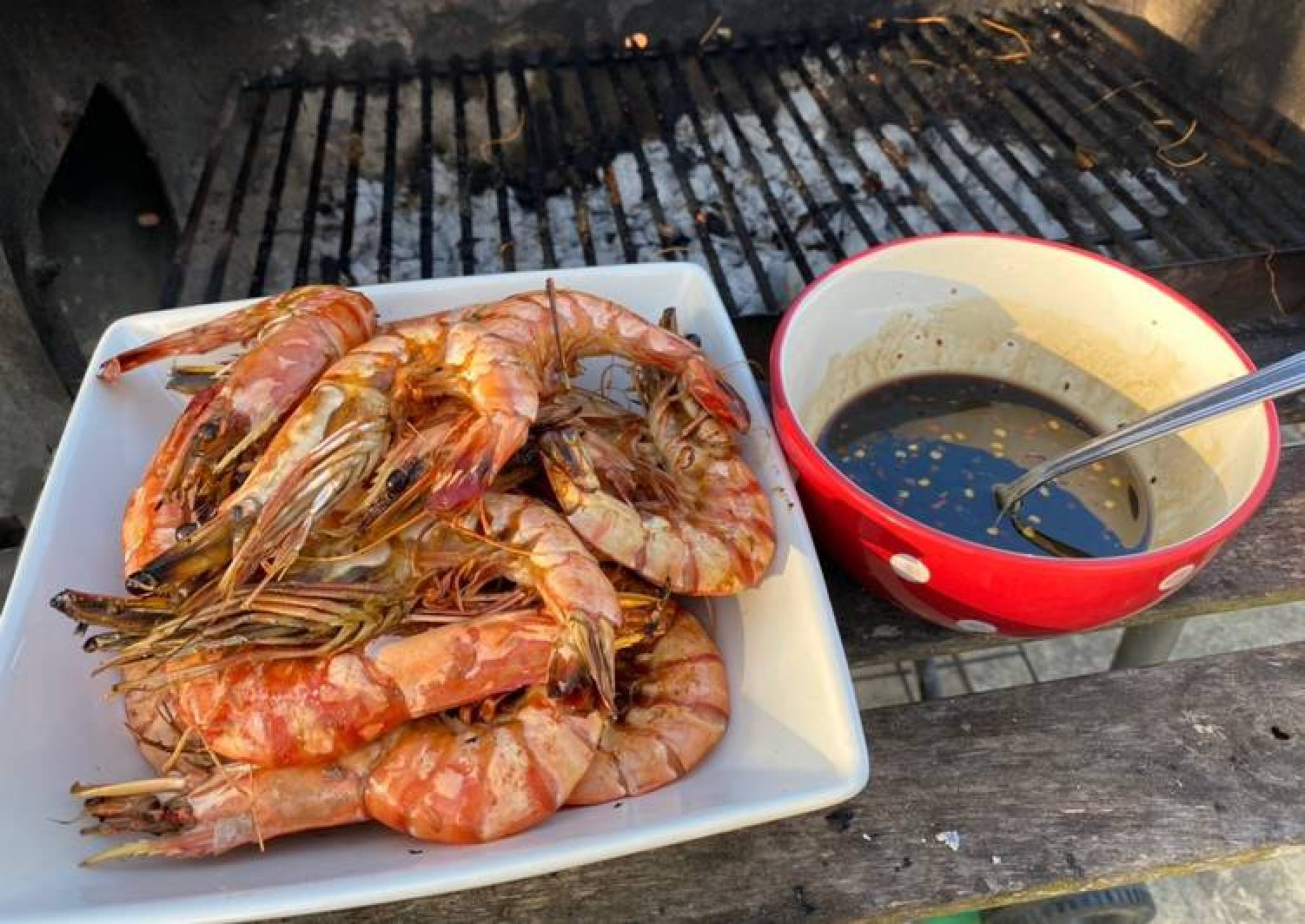 BBQ King Prawns with 2 Dips