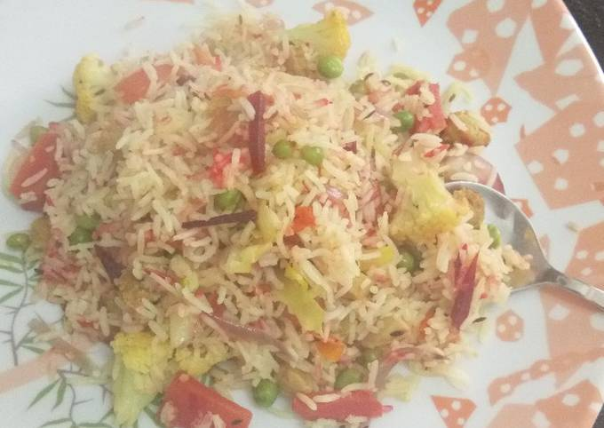 Simple Way to Make Jamie Oliver Veg pulav with beetroot