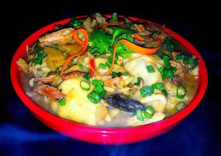 Mike's Steamy Asian Chicken & Dumpling Soup