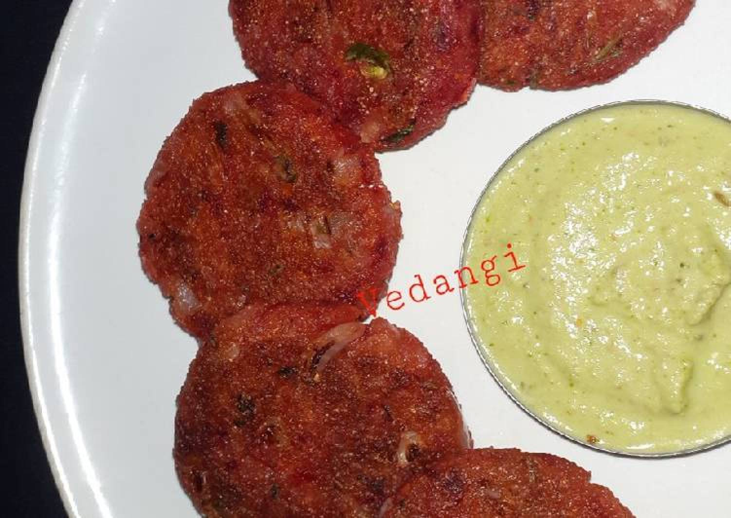 Poha& Beetroot Cutlets