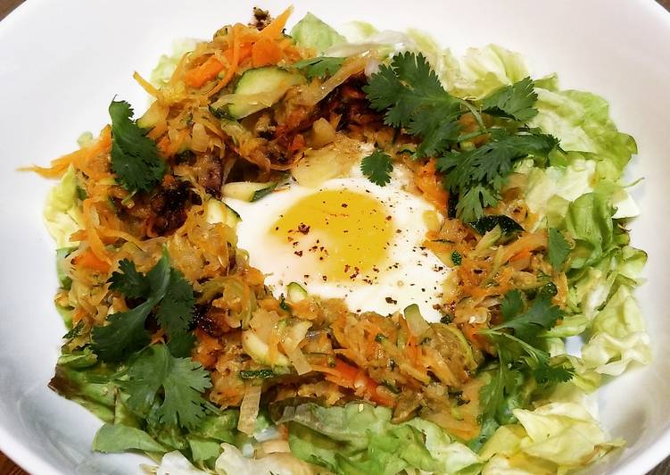 Indian Spice Rosti And Fried Egg
