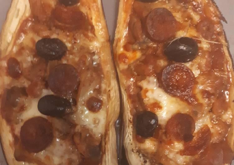 Aubergines farcies façon pizza