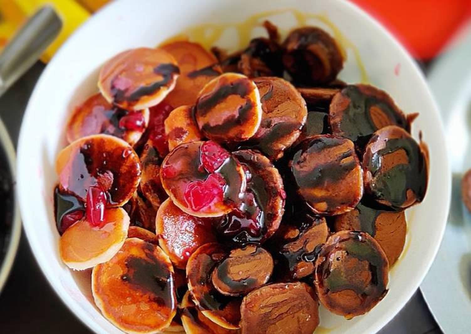 Pancake cereals Mixed Fruit jam and chocolate