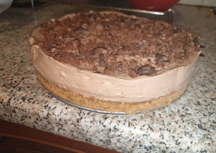 Step-by-Step Guide to Make Any night of the week Stephanie's Galaxy Minstrels Cheesecake
