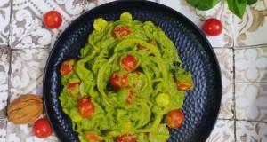 Creamy Bottleguard Pesto Noodles