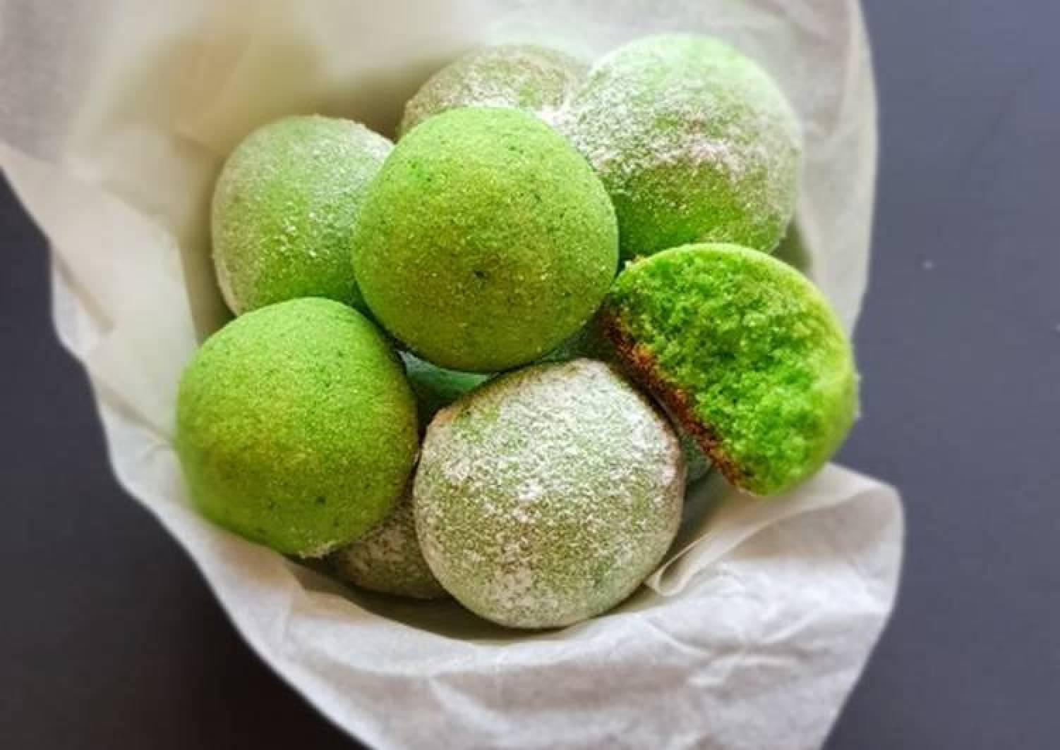 The Grinch Almond Snow Balls