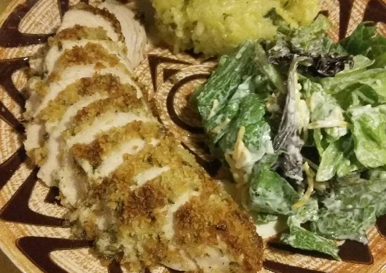 Easy Parmesan Crusted Chicken for 2