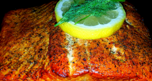 Mikes Smoked Wild Alaskan King Salmon Fillets  Grilled Asparagus