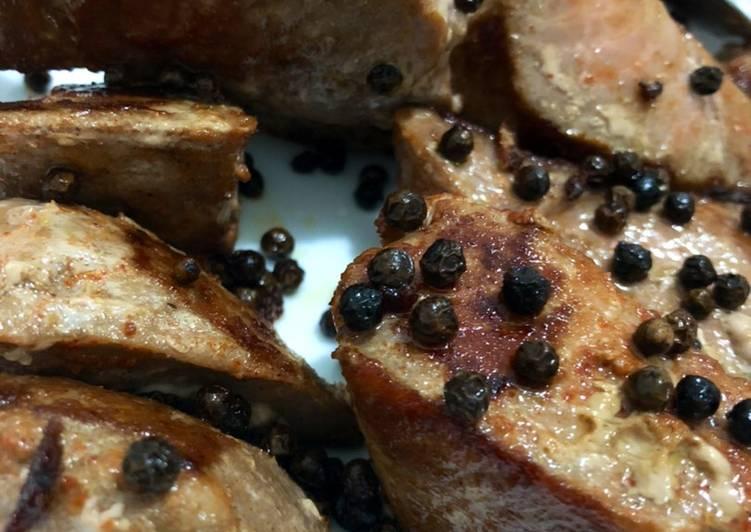 Recipe of Quick Pan seared crazy cut tuna