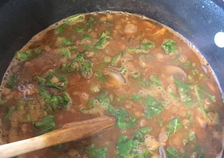 AFitClass Lentil Kale Soup