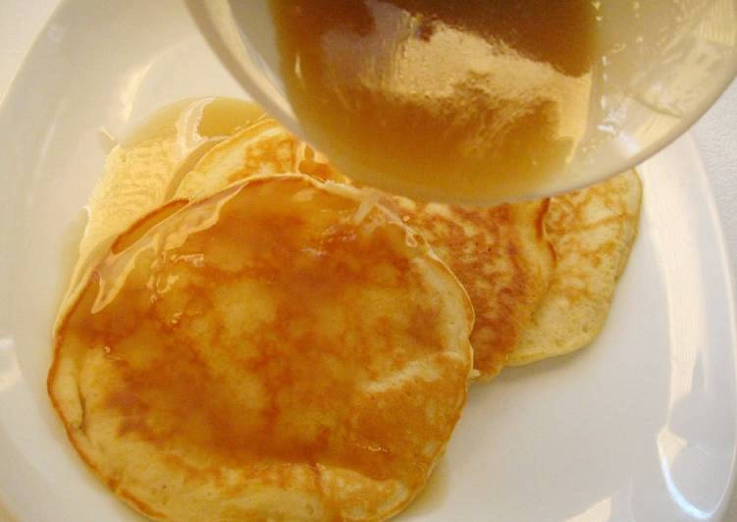 Coconut Pancakes with Coconut Maple Syrup (Small Batch)