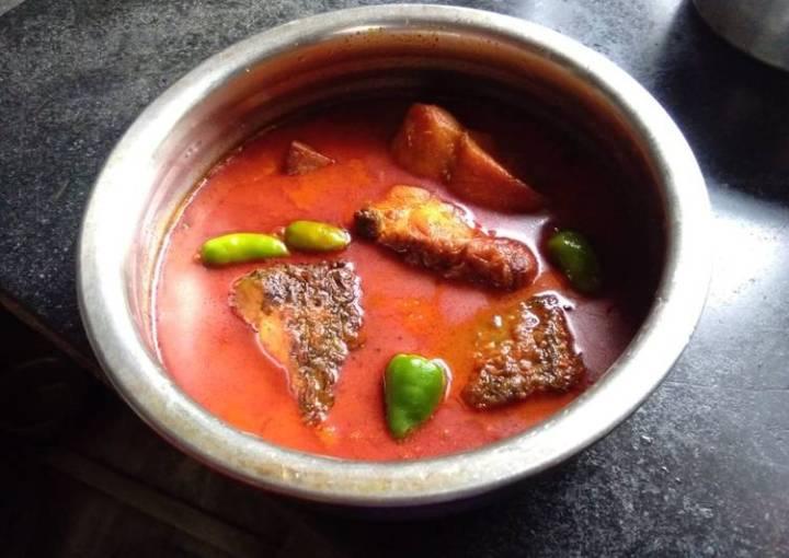 Rohu fish curry